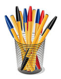 Ball Point Ink Pens   Royalty Free Stock Images