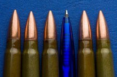 Ball point pen and cartridges Royalty Free Stock Images