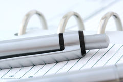 Ball Point Pen on Notebook Royalty Free Stock Photo