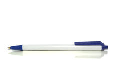 Ball point pen on white with clipping path Royalty Free Stock Image