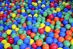 Ball Pond. Filled with colorful, soft rubber balls Stock Photography