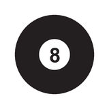 8-ball pool. Flat icon 8-ball pool isolated on white background. Billiard ball. Vector illustration Stock Image