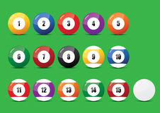 15 Ball. Pool 15 ball is interesting game Stock Images
