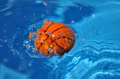 Ball in the pool stock photo