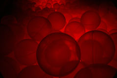Ball pool in the light sensory room (10). A photograph of a underlit ball pool on a light sensory room designed to calm children with learning difficulties and Stock Images