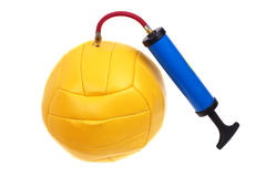 Ball and pump Royalty Free Stock Photo