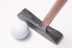 Ball and putter Royalty Free Stock Photo