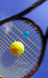 Ball and Racket Royalty Free Stock Images