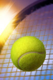 Ball and Racket Royalty Free Stock Image