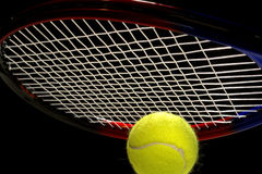 ball racket tennis Royaltyfri Fotografi