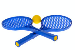 Ball And Racquet. Photo on the white background Stock Photography