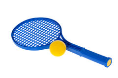 Ball and racquet Stock Photos