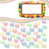 Ball rainbow background Stock Image