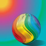 Ball in rainbow color on a colorful background.  Royalty Free Stock Images