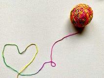 Heart of Yarn stock photography