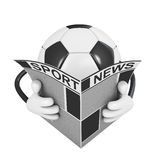 Ball reading a newspaper Stock Images
