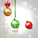 Ball Realistic Christmas. Ball Realistic Christmas Baubles background Royalty Free Stock Image