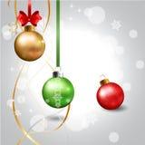 Ball Realistic Christmas. Royalty Free Stock Image