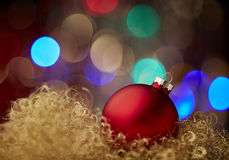 Ball red christmas gold new year Royalty Free Stock Image