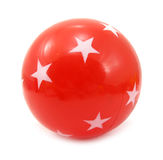 Ball red with white stars Stock Photo