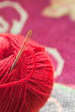 A ball of red yarn Stock Photography