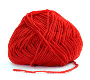 Ball of red yarn Royalty Free Stock Photo