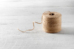 Ball or reel of coarse brown twine Royalty Free Stock Image