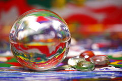Ball reflecting paint colors Royalty Free Stock Images