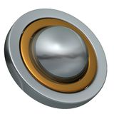 Ball of the Rings 2. Metal ball and two metal rings easy to isolate royalty free illustration
