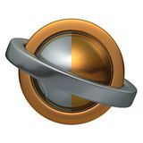 Ball of the Rings 3. Metal ball and two metal rings easy to isolate royalty free illustration