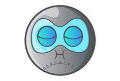 Ball Robot Annoyed. Stock Photo