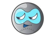 Ball Robot Irritated. Royalty Free Stock Image
