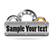Ball and roller bearing with space for text Stock Image