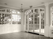 Ball room b&w Royalty Free Stock Photography