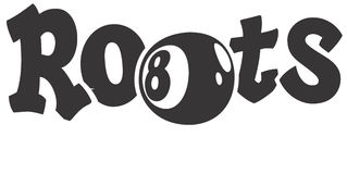 8Ball Roots Vector Design Clipart. Created in Adobe Illustrator in EPS format for use in eight ball web and print stock illustration