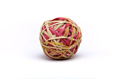 Ball of rubber bands Royalty Free Stock Image