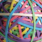 Ball of rubber bands Royalty Free Stock Photo