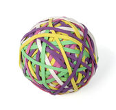 Ball of rubber bands Royalty Free Stock Photography