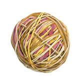 Ball of rubber bands Royalty Free Stock Photos