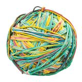 Ball of rubber bands. on white background. Stock Photography