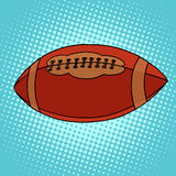 Ball for Rugby or American football. Pop art retro style Royalty Free Stock Image