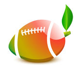 Ball for Rugby football - a papaya Stock Photo