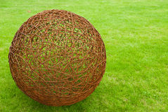Ball of rusty wire royalty free stock photography