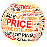 Ball of sales with text Royalty Free Stock Image