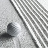 Ball sand royalty free stock photography