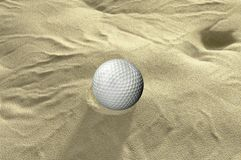 Ball in sand trap Stock Image