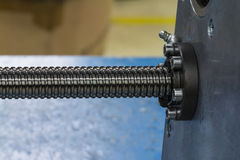 Ball screw shaft Stock Photo