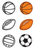 Ball set stock illustration