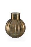 Ball-Shaped Gold Mercury Glass Bottle Vase Stock Images