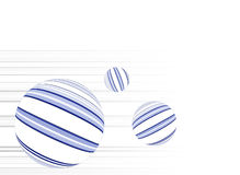 Ball shapes with lines Stock Photos